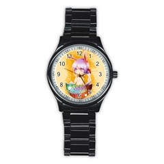 Easter Bunny Furry Stainless Steel Round Watch by Catifornia