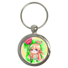 Happy Mother s Day Furry Girl Key Chains (round)  by Catifornia