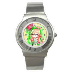 Happy Mother s Day Furry Girl Stainless Steel Watch by Catifornia