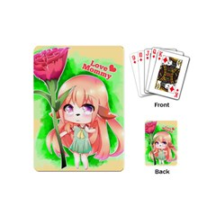 Happy Mother s Day Furry Girl Playing Cards (mini)  by Catifornia