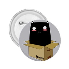Black Cat In A Box 2 25  Buttons by Catifornia