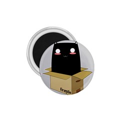 Black Cat In A Box 1 75  Magnets by Catifornia