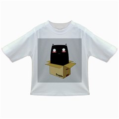 Black Cat In A Box Infant/toddler T Shirts by Catifornia