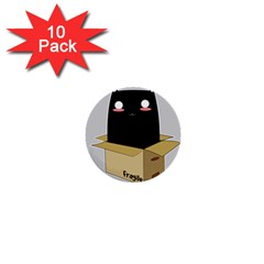 Black Cat In A Box 1  Mini Buttons (10 Pack)  by Catifornia