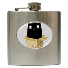 Black Cat In A Box Hip Flask (6 Oz) by Catifornia