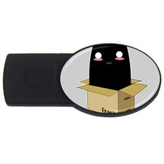 Black Cat In A Box Usb Flash Drive Oval (2 Gb) by Catifornia