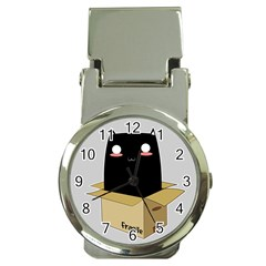 Black Cat In A Box Money Clip Watches by Catifornia