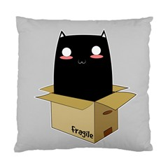Black Cat In A Box Standard Cushion Case (one Side) by Catifornia