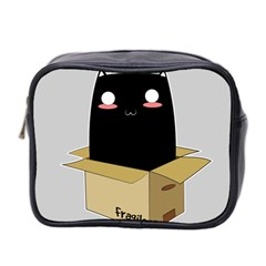 Black Cat In A Box Mini Toiletries Bag 2 Side by Catifornia