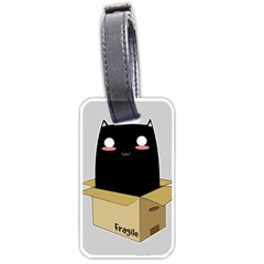 Black Cat In A Box Luggage Tags (two Sides) by Catifornia