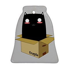 Black Cat In A Box Ornament (bell) by Catifornia