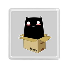 Black Cat In A Box Memory Card Reader (square)  by Catifornia