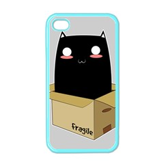 Black Cat In A Box Apple Iphone 4 Case (color) by Catifornia
