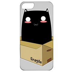 Black Cat In A Box Apple Iphone 5 Classic Hardshell Case by Catifornia