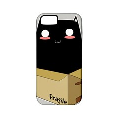 Black Cat In A Box Apple Iphone 5 Classic Hardshell Case (pc+silicone) by Catifornia