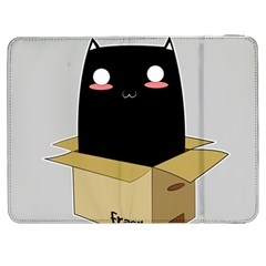 Black Cat In A Box Samsung Galaxy Tab 7  P1000 Flip Case by Catifornia