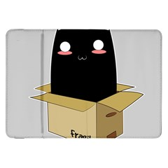 Black Cat In A Box Samsung Galaxy Tab 8 9  P7300 Flip Case by Catifornia