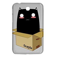 Black Cat In A Box Samsung Galaxy Tab 3 (7 ) P3200 Hardshell Case  by Catifornia