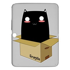 Black Cat In A Box Samsung Galaxy Tab 3 (10 1 ) P5200 Hardshell Case  by Catifornia