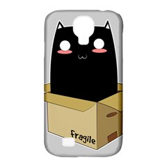 Black Cat In A Box Samsung Galaxy S4 Classic Hardshell Case (pc+silicone) by Catifornia