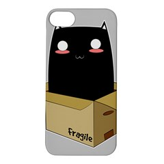 Black Cat In A Box Apple Iphone 5s/ Se Hardshell Case by Catifornia