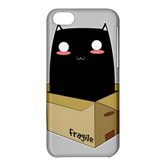 Black Cat In A Box Apple Iphone 5c Hardshell Case by Catifornia