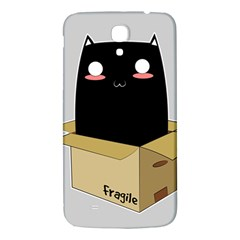 Black Cat In A Box Samsung Galaxy Mega I9200 Hardshell Back Case by Catifornia