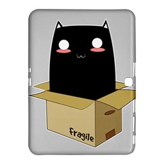 Black Cat In A Box Samsung Galaxy Tab 4 (10 1 ) Hardshell Case  by Catifornia