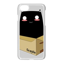 Black Cat In A Box Apple Iphone 7 Seamless Case (white) by Catifornia