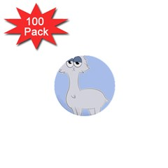 Grumpy Persian Cat Llama 1  Mini Buttons (100 Pack)  by Catifornia
