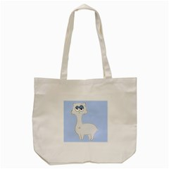Grumpy Persian Cat Llama Tote Bag (cream) by Catifornia