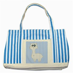 Grumpy Persian Cat Llama Striped Blue Tote Bag by Catifornia