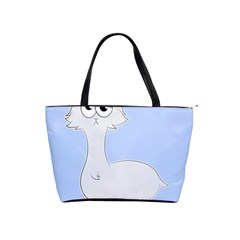 Grumpy Persian Cat Llama Shoulder Handbags by Catifornia