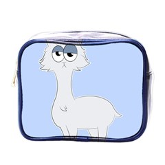 Grumpy Persian Cat Llama Mini Toiletries Bags by Catifornia