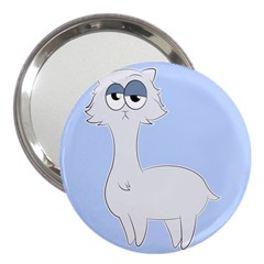 Grumpy Persian Cat Llama 3  Handbag Mirrors by Catifornia