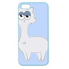 Grumpy Persian Cat Llama Apple Seamless Iphone 5 Case (color) by Catifornia