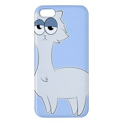 Grumpy Persian Cat Llama Apple Iphone 5 Premium Hardshell Case by Catifornia