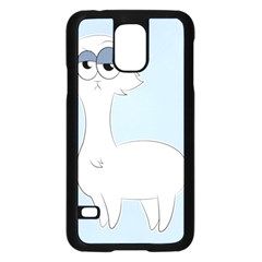 Grumpy Persian Cat Llama Samsung Galaxy S5 Case (black) by Catifornia