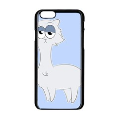 Grumpy Persian Cat Llama Apple Iphone 6/6s Black Enamel Case by Catifornia