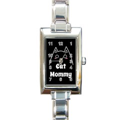 Love My Cat Mommy Rectangle Italian Charm Watch by Catifornia