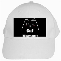 Love My Cat Mommy White Cap by Catifornia