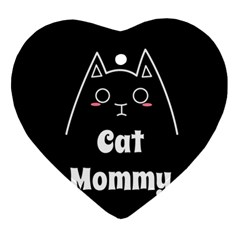 Love My Cat Mommy Ornament (heart) by Catifornia