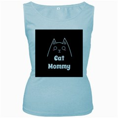 Love My Cat Mommy Women s Baby Blue Tank Top by Catifornia