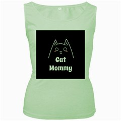 Love My Cat Mommy Women s Green Tank Top by Catifornia