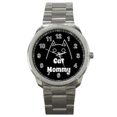 Love My Cat Mommy Sport Metal Watch by Catifornia