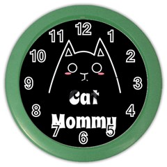 Love My Cat Mommy Color Wall Clocks by Catifornia
