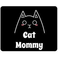 Love My Cat Mommy Fleece Blanket (medium)  by Catifornia