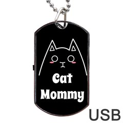 Love My Cat Mommy Dog Tag Usb Flash (two Sides) by Catifornia