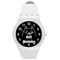 Love My Cat Mommy Round Plastic Sport Watch (m) by Catifornia