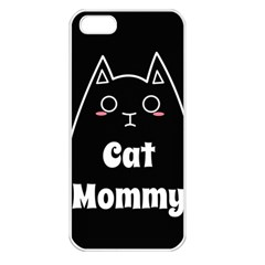 Love My Cat Mommy Apple Iphone 5 Seamless Case (white) by Catifornia